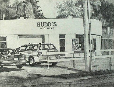 Budd's Auto Original Drawing