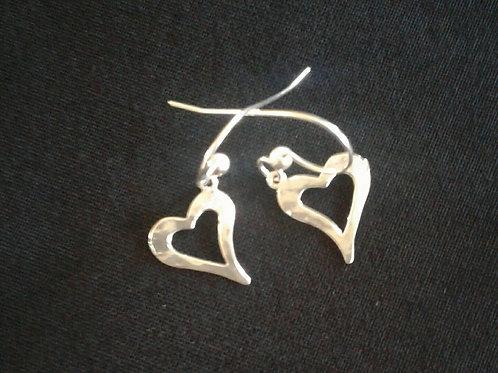 Curved Heart Earrings
