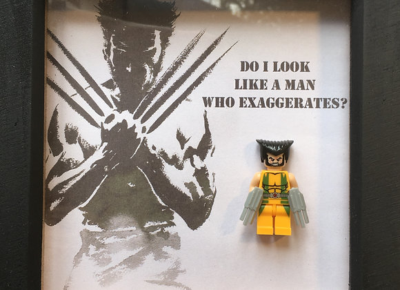 Wolverine - Logan - minifigure Art in black frame 18cm x 18cm