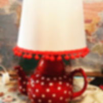 #teapot #lamp #red #topchickproductions