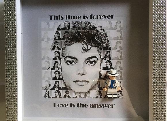 Michael Jackson Bling White Frame