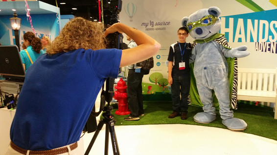 Convention Photography with a mascot