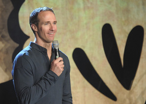Drew Brees at a Conference