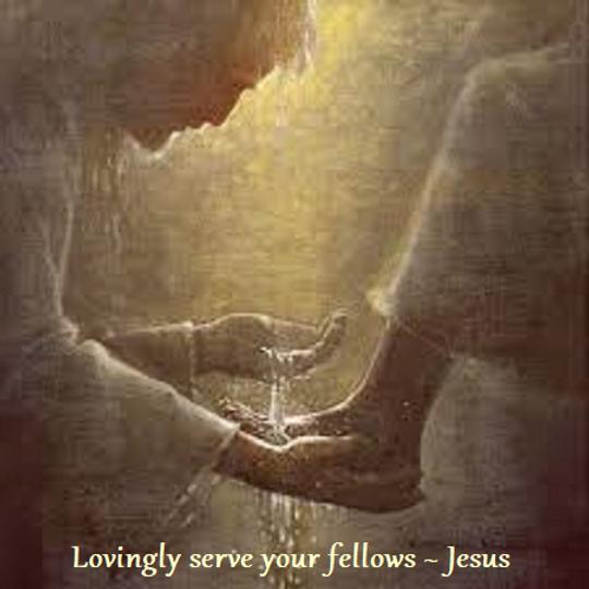 Jesus washing feet Kim Lovingly serve yo