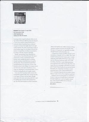 Critique Joe Laredo - international pian
