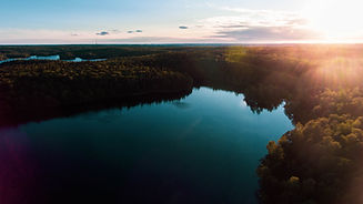 Drönarbild Öjersjö över ksjön