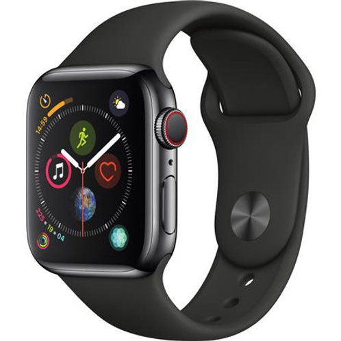Apple Watch Series 3 38 mm Gps /Gray Case Black Aluminium Blk band - MTF02LLA