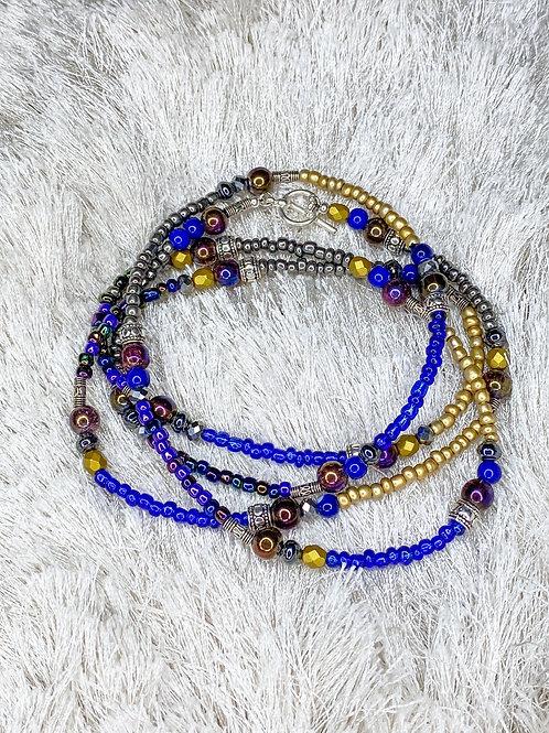 Purple/Gold Waist Beads Set- sz 16/45