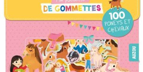 Gommettes - Poneys et chevaux