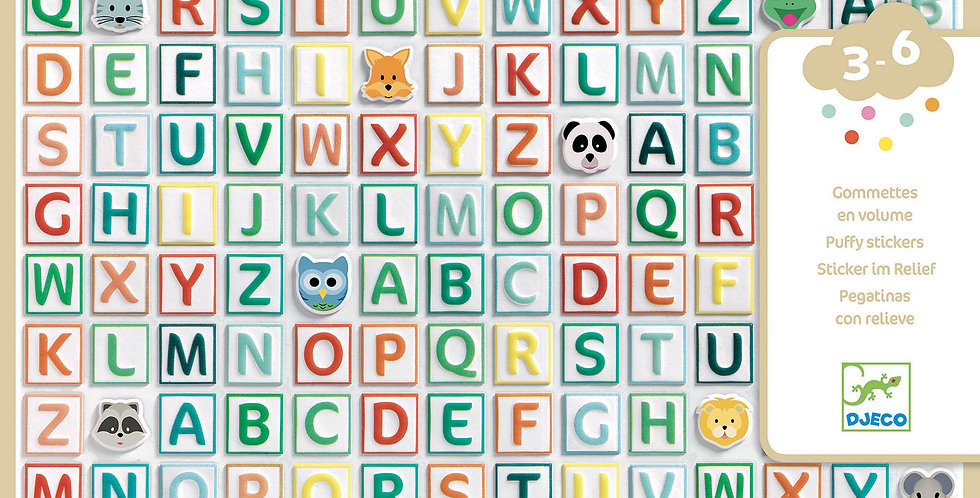 Gommettes et stickers - Alphabet