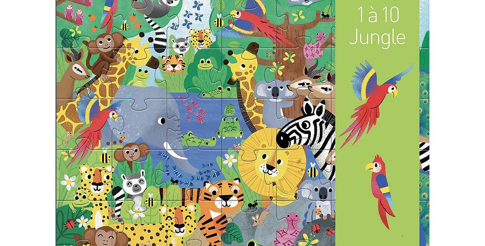 Puzzle géant - 1 à 10 Jungle 54 pcs