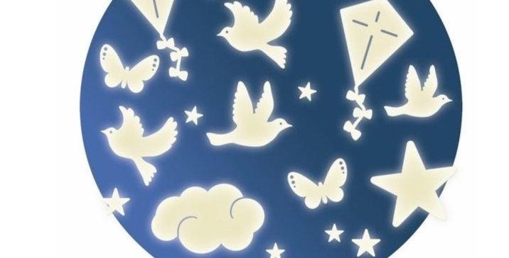 Décors phosphorescents - Dans le ciel