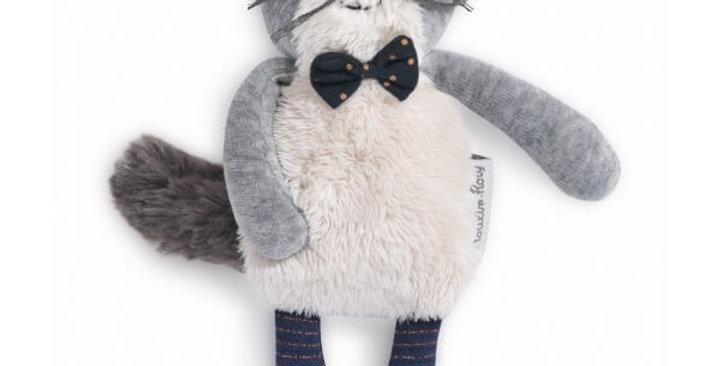 Miniature chat gris clair Fernand Les Moustaches