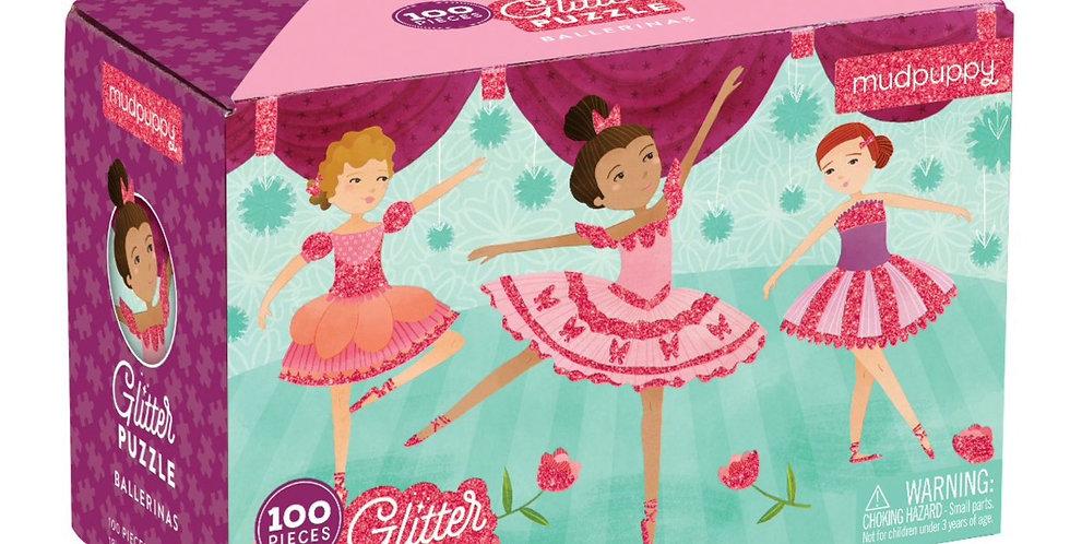 Glitter Puzzle - Ballerinas - 100 pcs