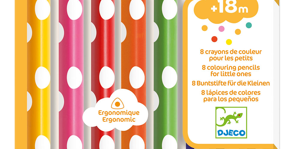 Les couleurs - 8 crayons de couleurs pour les petits