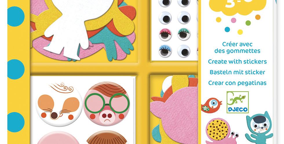 Gommettes et stickers - J'aime les animaux