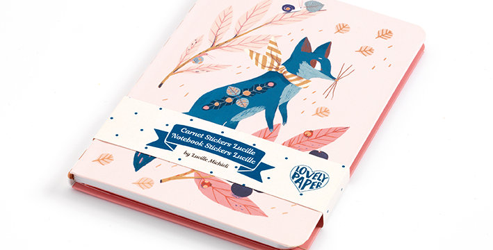 Lovely Paper - Duo carnets stickers Lucile