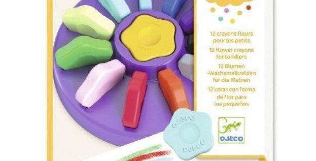 Les couleurs - 12 crayons fleurs pour les petits