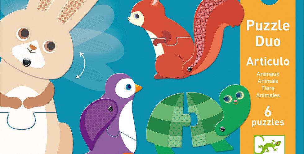 Puzzle duo - Articulo animaux