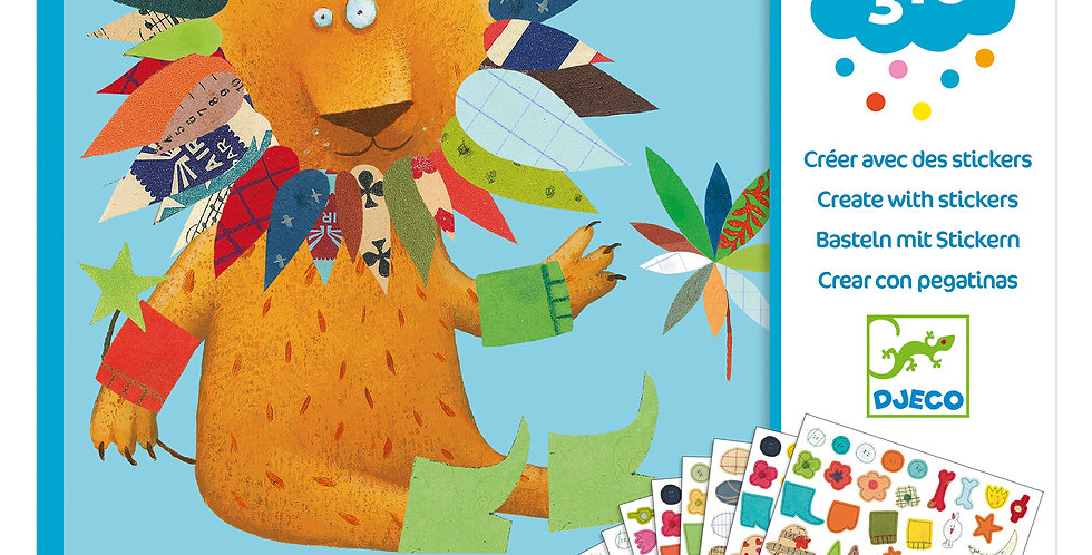 Gommettes et stickers - Créer des animaux