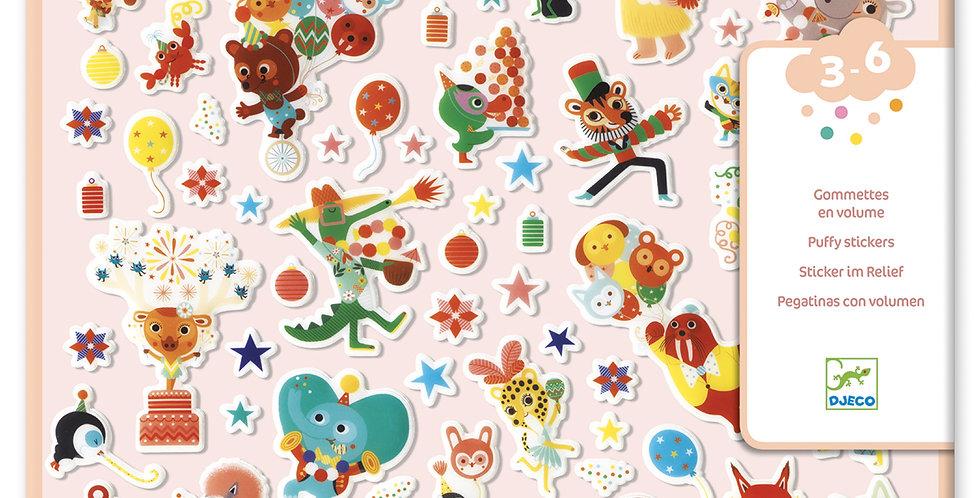 Gommettes et stickers - La fête