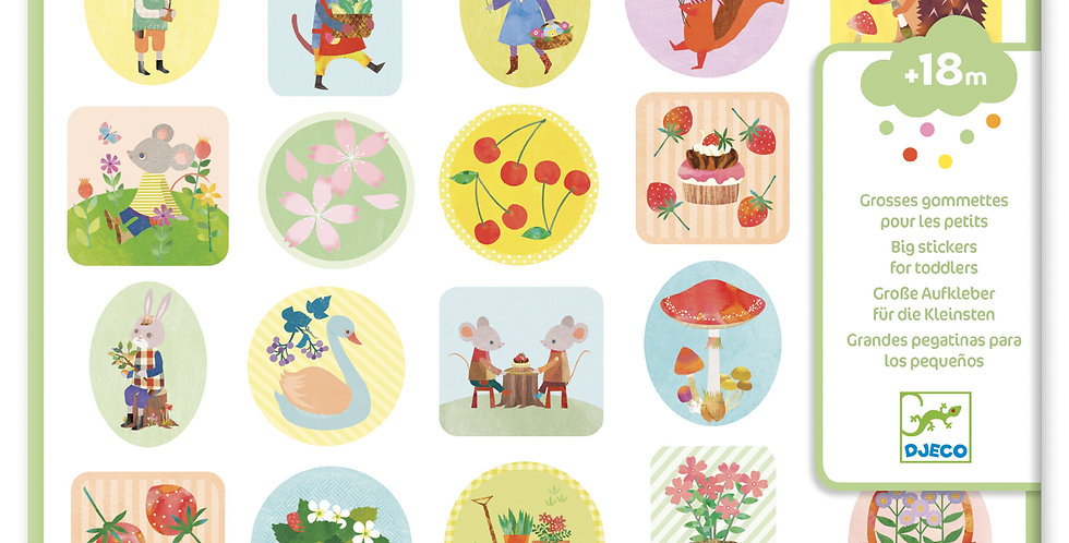 Gommettes et stickers - Le jardin
