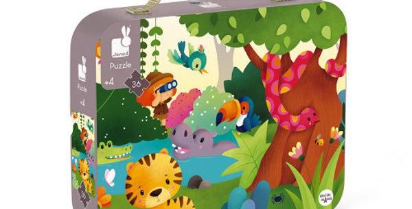Puzzle panoramique 36 pcs - Jungle