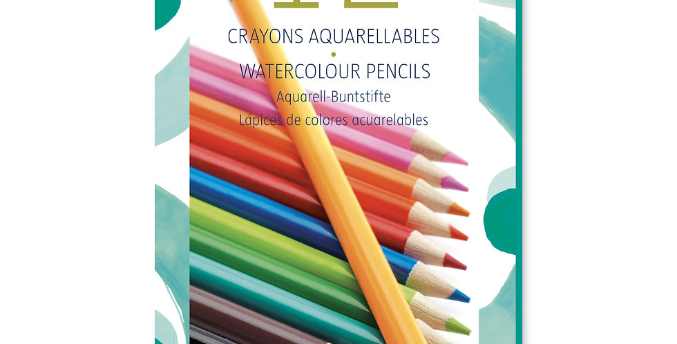 Les couleurs - 12 crayons aquarellables