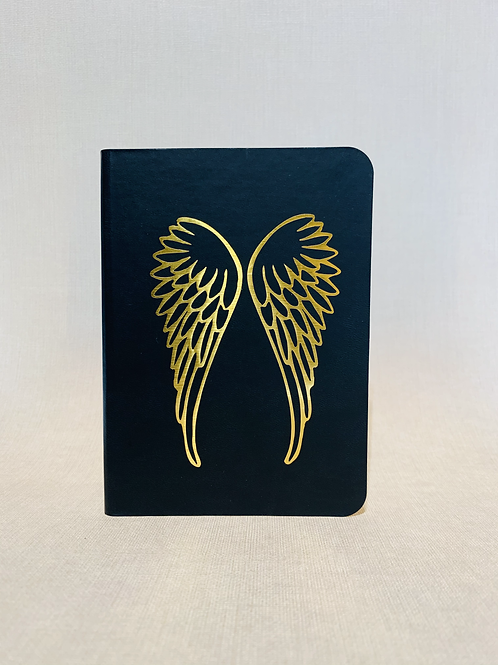 Golden Wings Notebook - Black