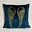 Thumbnail: Teal Velvet Wings Cushion
