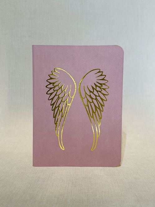 Golden Wings Notebook - Pink