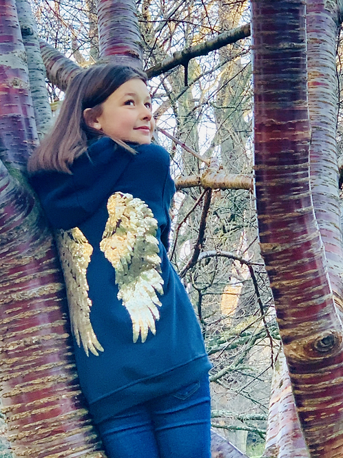 Kids Sequin Wing Hoodie