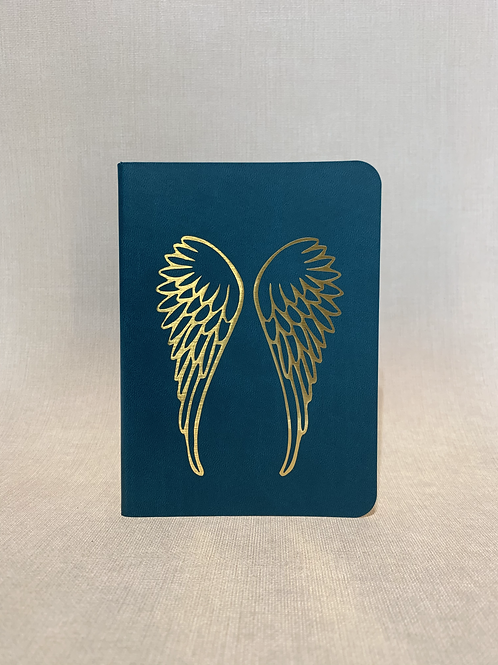 Golden Wings Notebook - Teal