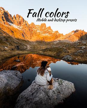 Fall colors- preset pack