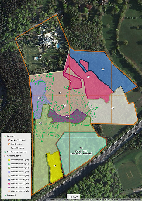 Woodland management map