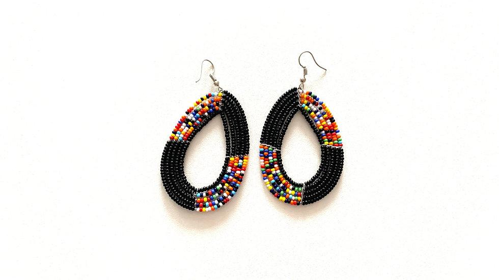 Open oval earrings