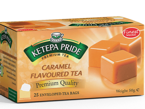 Caramel Aromatisierter Schwarztee Teebeutel 25 Stk