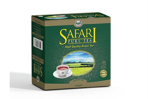 Safari Pure Teebeutel mit Umschlag, Faden und Anhänger