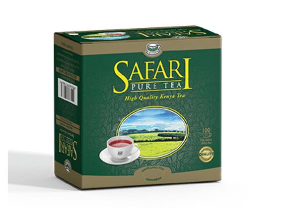 Safari Pure Black Teebeutel mit Umschlag, Faden und Anhänger