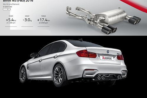 "AKRAPOVIC"" Evolution Line  For BMW F80/82 M3/M4"