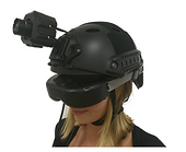intelligence information and data collaboration Therml Imaging Sensor Video Recorder HMD Head Mounted Helmet Mounted Micro Rugged Wearable Survaillance Head Mounted Helmet Thermal LWIR Situational Awareness Camera