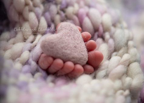 Tiny Toes Heart Newborn Photography Essex