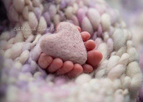 Tiny Toes Heart Newborn Photography Essex