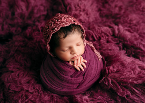 Colourful newborn baby photos