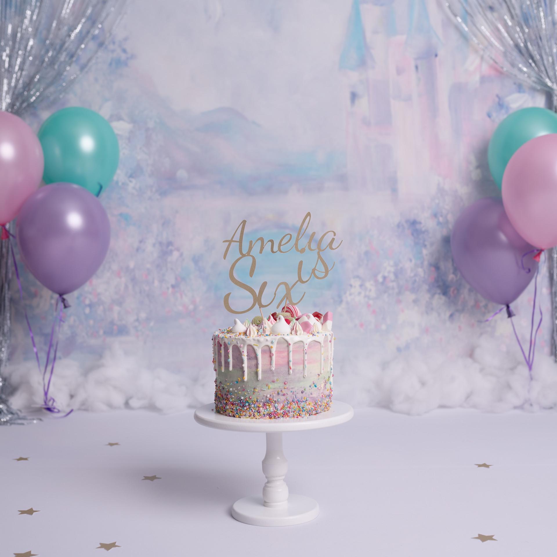 Princess Theme Cake Smash for 6 year old