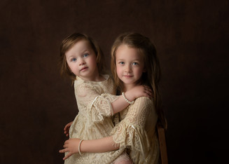 Family Portrait Studio Session Essex Sisters Timeless