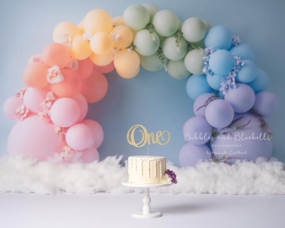 Rainbow Theme Cake SMash