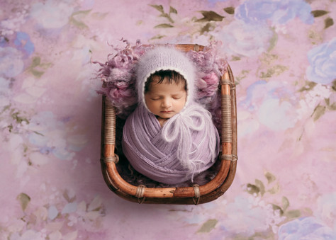 newborn baby photos in essex studio props