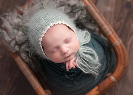 Super Cute Baby Bonnet - Newborn Photographer Cambridgeshire, Essex and North London