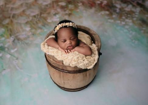 baby in a bucket   newborn photographer in essex london, hertfordshire